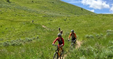 Riding Deer Valley's Rode to Ruby during the Park City Food & Wine Classic Pedal and Pour ride.