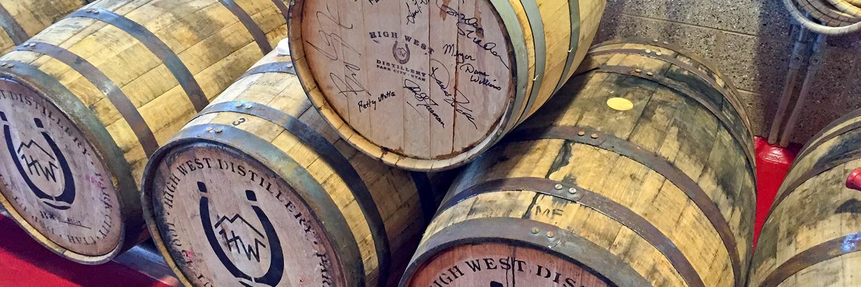 High West Whiskey barrels