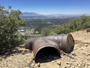 View of Greater Salt Lake City from the overlook out-and-back of the Pipeline Traill up Mill Creek.