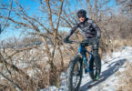 Aaron Phillips trains for the Sweaty Yeti Fat Bike Race on the Neff's Canyon Trail, December, 2017 – Photo © Scott Cullins