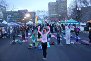 Yeti Yoga by AndShesDopeToo at the Wasatch Yeti Bash in downtown Ogden