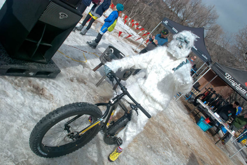 Sweaty Yeti spotting at the 2018 Sweaty Yeti Fat Bike Race. ©2018 Scott Cullins