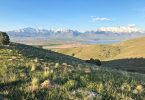 Photo from the Eagle Mountain Trails, looking northeast towards Provo Lake and the Wasatch Mountains.