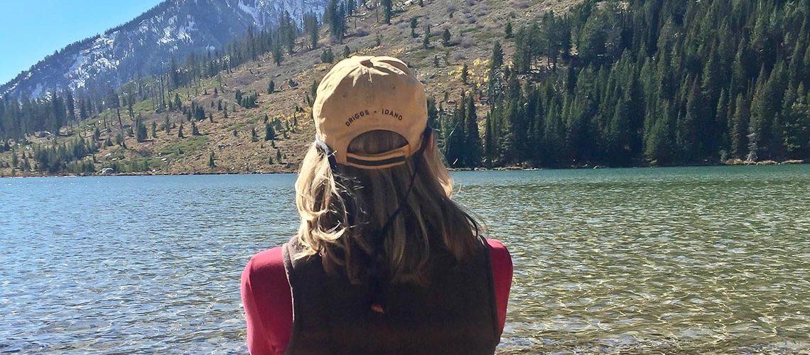 Photo of woman enjoying Jackson Lake at Grand Teton National Park ©2016 Canyon Mediaoto of