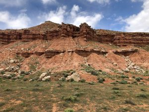 Photo of Red mesa cliff formations along the Got Milk trail at the McCoy Flats trail network outside of Vernal, UT